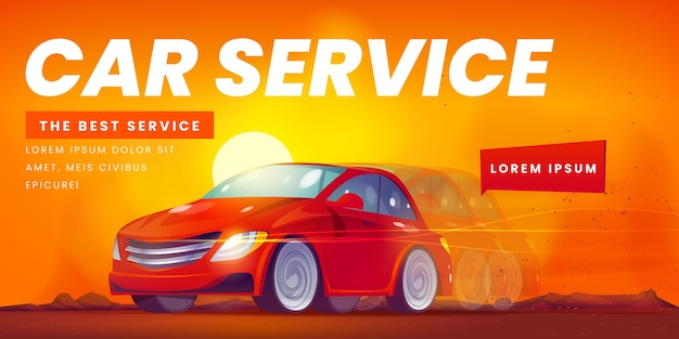 Fond de voiture illustrée créative