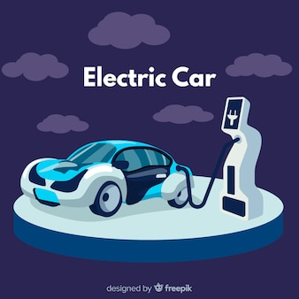Fond de voiture moderne électrique