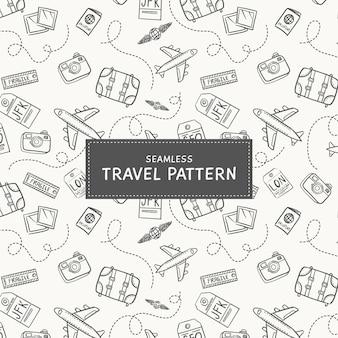 Fond de voyage doodle