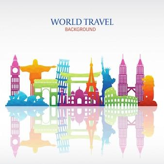 Fond de voyage du monde