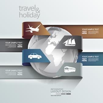 Fond de voyage infographique