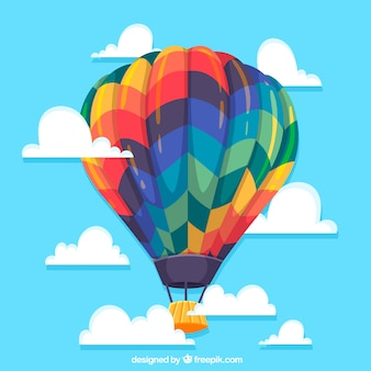 Fond de voyage de montgolfière