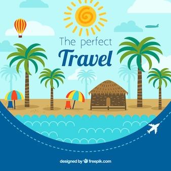 Fond de voyage tropical