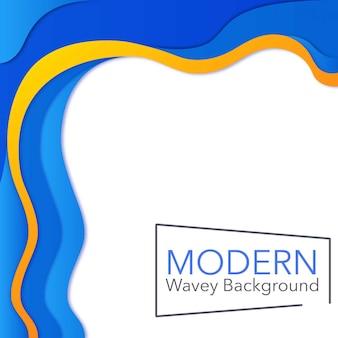 Fond wavey moderne