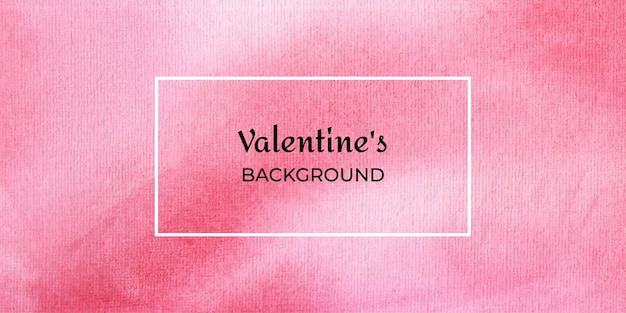 Fond web aquarelle valentine rouge