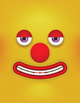 Fond avec des yeux de dessin animé visage drôle.