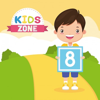 Fond de zone enfants