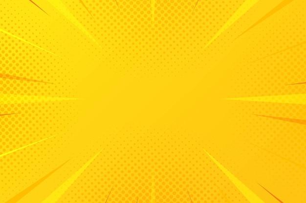 Fond de zoom comique abstrait demi-teinte jaune
