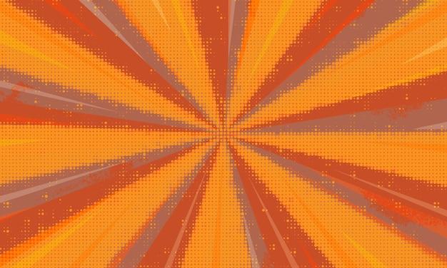 Fond de zoom comique demi-teinte et sunburst