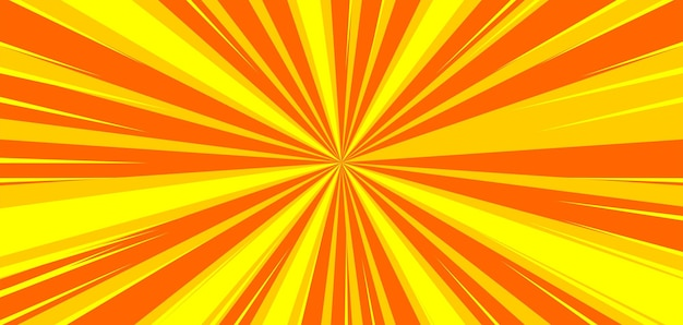 Fond de zoom comique jaune abstrait