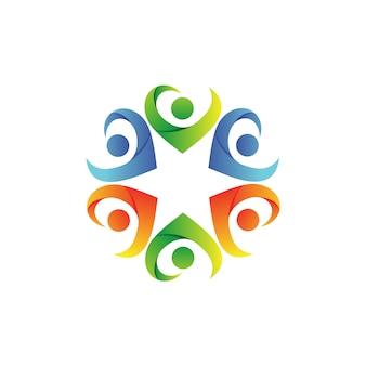 Fondation de soins de personnes vector logo