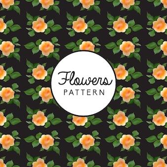 Fondo de flores et de poissons