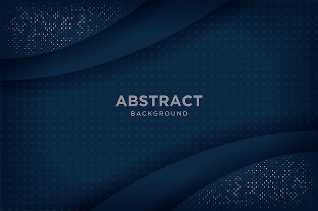 Fonds 3d abstrait bleu marine avec des couches qui se chevauchent.