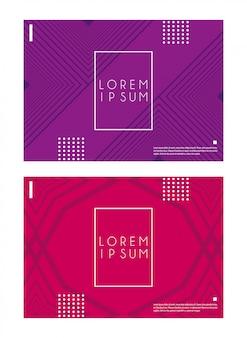 Fonds abstraits rouges et violets
