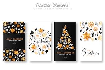 Fonds d'écran de Noël pour les histoires mobiles et Instagram