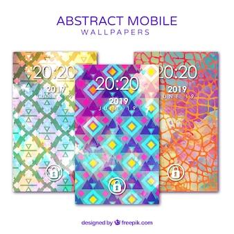 Fonds d'écran mobiles avec formes abstraites