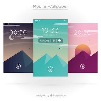 Fonds d'écran de montagne colorée pour mobile
