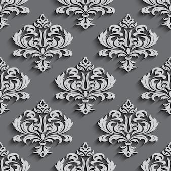 Fonds d'écran sans couture dans le style baroque. peut être utilisé pour les arrière-plans et la conception web de remplissage de page