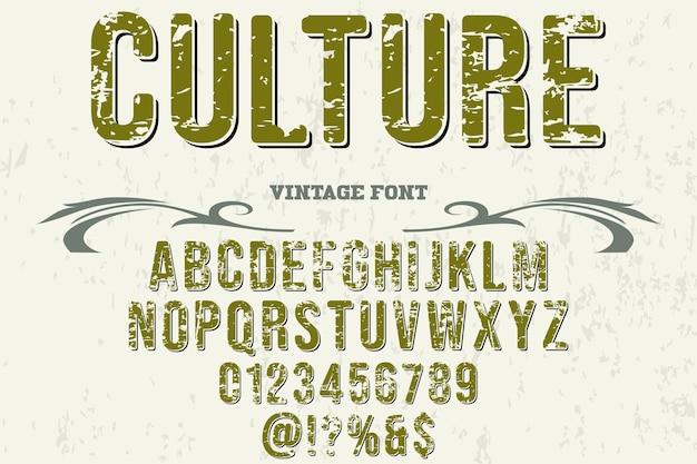 Font shadow effect, culture