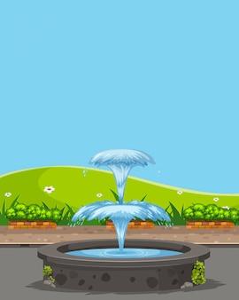 Fontaine dans la nature
