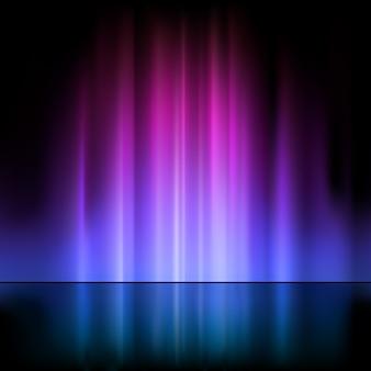 Fontaine lumineuse illuminée dans des tons violets