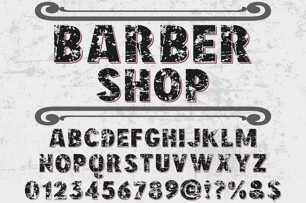 Fonte typographie design barbier