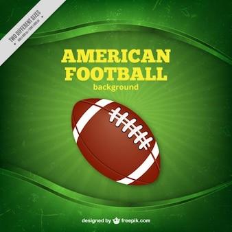Fooball américain fond vert