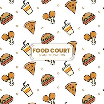 Food court wallpaper modèle illustration vectorielle