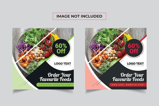 Food post pour le modèle de bannière de médias sociaux