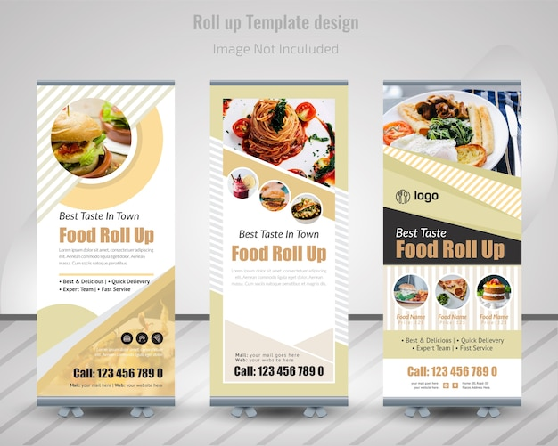 Food roll up banner design pour restaurant