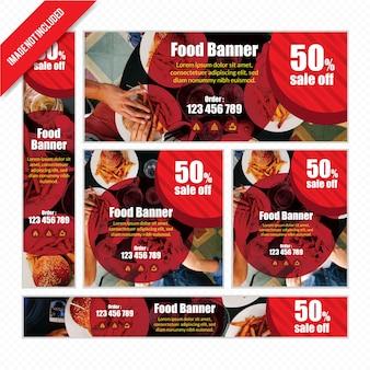 Food web banner se pour restaurant