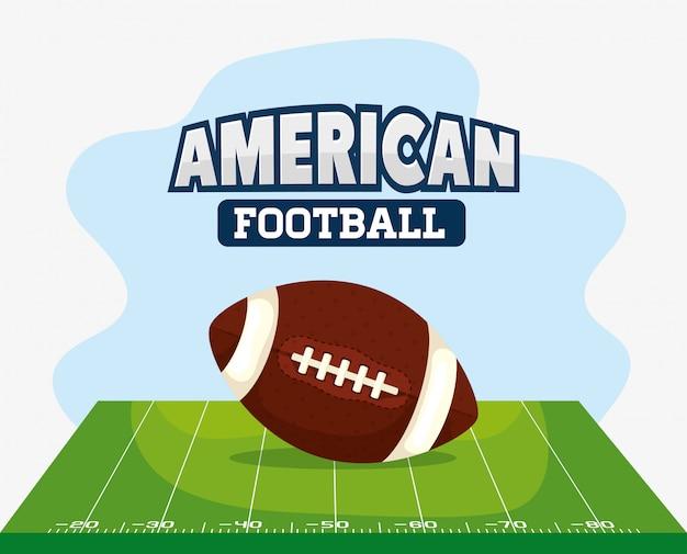 ¡football américain avec ballon illustration