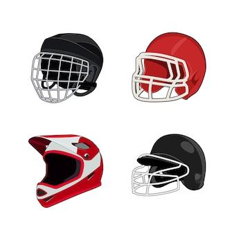Football américain, hockey sur glace, baseball, casque d'uniforme de moto. équipement de protection de la tête de rugby. .