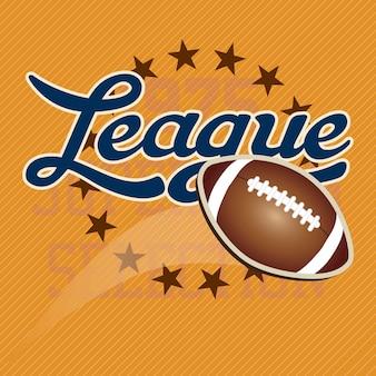 Football américain leage toutes les étoiles couleurs rétro illustration vectorielle