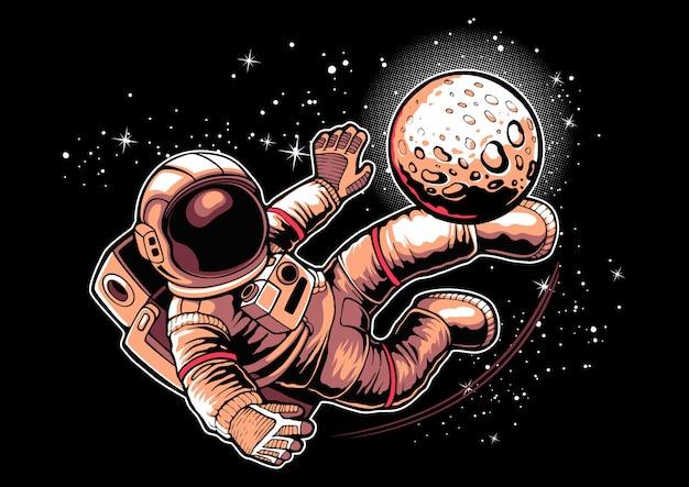Football astronaute