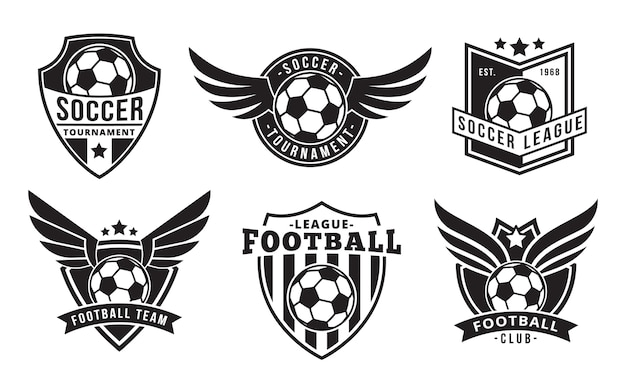 Football / badges de football avec des ailes