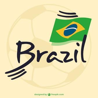 Le football brésil vecteur libre graphiques