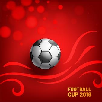 Football créatif 2018 Championnat du monde de football de fond. Illustration vectorielle