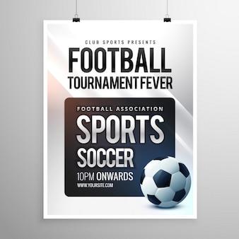 Le football dépliant tournoi modèle d'invitation