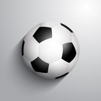 Football de football sur un fond monochrome avec des ombres