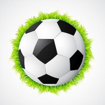 Football football avec herbe