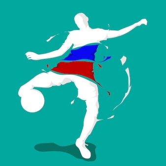 Football football splash drapeau de la nation france