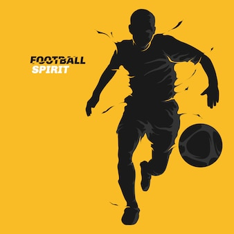 Football football splash esprit