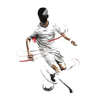 Football joueur de football grunge peinture