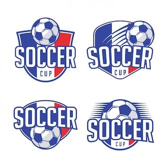 Football Logo Dessins De Modèle Vecteur gratuit