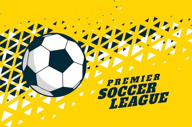 Football soccer et triangle demi-teinte