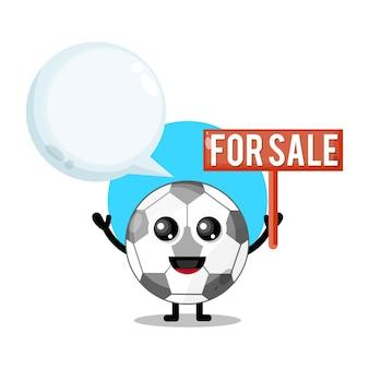 Football à vendre mascotte de personnage mignon