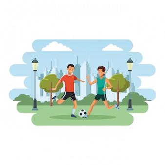 Footballeur et athlète