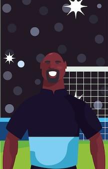 Footballeur, homme, dans, stade