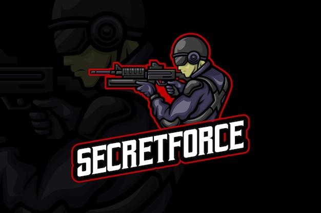 Force secrète - modèle de logo esport